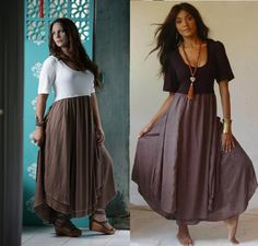 Lotus Traders Clothing website. Fantastic look! Pretty Layered Lagenlook Short Sleeve Color Mix Dress
