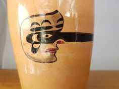 David Lambert Potteries 6 Growing Nose Mask Red Clay beaker   Etsy Vancouver, David Lambert, Canadian Soldiers, Nose Mask, First Nations, Vintage Items, Objects, Pottery, Clay