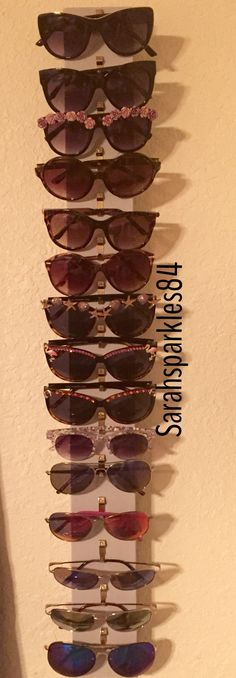 Sunglasses storage for small spaces