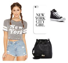 """""""New York"""" by kacey1960 ❤ liked on Polyvore featuring Casetify, Forever 21, Barneys New York and Converse"""