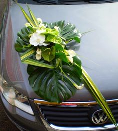 wedding car deco … Source by crosnierstphani Tropical Floral Arrangements, Flower Arrangements, Bridal Flowers, Flower Bouquet Wedding, Bridal Car, Car Wedding, Tropical Wedding Bouquets, Wedding Car Decorations, Persian Wedding