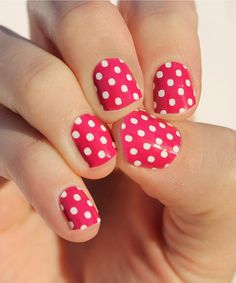 This Raspberry & White Mini Dots Nail Wrap - Set of Two is perfect! #zulilyfinds