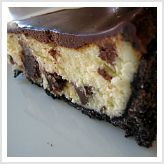 Brownie Mosaic Cheesecake with Oreo Crust...when I make a cheesecake it will be this one