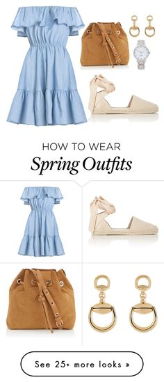 """simple summer spring outfit"" by kimchie-reyes on Polyvore featuring Yves Saint Laurent, Vanessa Bruno, Kate Spade and Gucci"