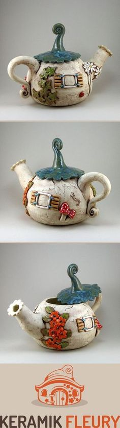 Keramik Teekanne der besondern Art. Kunst und Gebrauchsgegenstand?