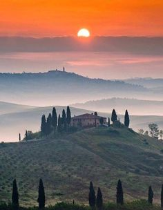 Tuscany, Italy Looks to beautiful to be real but yes, it's actually THAT beautiful!