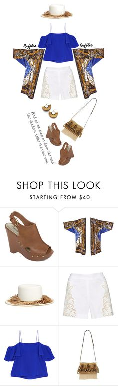 """""""Dear lady, can you hear the wind blow'"""" by dianefantasy ❤ liked on Polyvore featuring A.N.A, Gigi Burris Millinery, Alice + Olivia, Fendi, Loewe, NAKAMOL, polyvorecommunity, polyvoreeditorial and ruffledtops"""