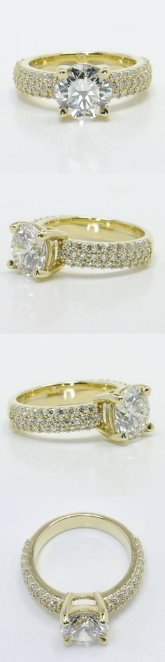 Yellow Gold Pave Diamond Ring by Brilliance.com! (Round 1.84 Ctw. Color: I Clarity: VVS1 Cut: Super Ideal Certification: GIA) Diamond/Gem Cost: $12,962 (Metal: 18k Yellow Gold Side Shape: Round Side Carat: .60 Side Color: G Side Clarity: SI1 Side Cut: Exellent Setting Type: Pave) Setting Cost: $1,450 - Total Cost: $14,612 https://www.brilliance.com/recently-purchased-rings/yellow-gold-pave-diamond-ring