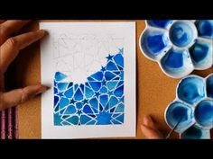 (6) Watercolour - Painting and blending - Islamic Geometric Patterns - YouTube