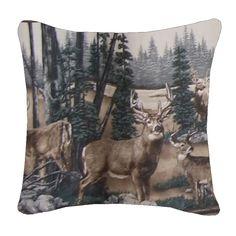 Kimlor Whitetail Dreams Square Pillow   Bed Planet   Bedplanet.com