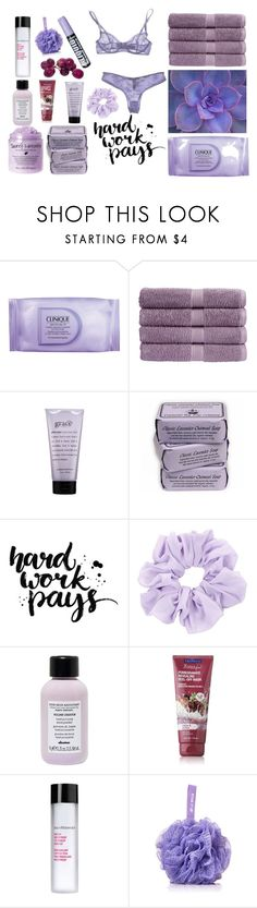 """HARD WORK PAYS¡"" by selenaisunshine ❤ liked on Polyvore featuring beauty, Clinique, Christy, philosophy, Davines, Bare Escentuals and Forever 21"