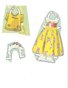 Dionne Quintuplets Paper Dolls (25 of 26): Marie, #3488 Merrill 1940 | Miss Missy Paper Dolls