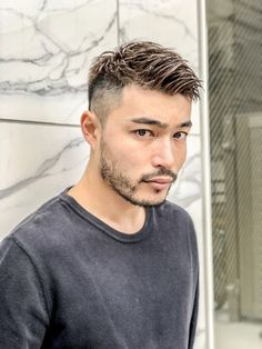 Straight Eyebrows, Guys Eyebrows, Asian Man Haircut, Asian Men Hairstyle, Boy Hairstyles, Summer Hairstyles, Short Hair Cuts, Short Hair Styles, Light Blue Eyes