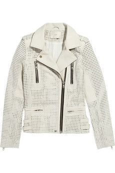 IRO Caelie perforated leather biker jacket | THE OUTNET
