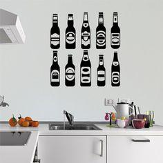 Adesivo Decorativo de Cozinha - Garrafas - 007cz