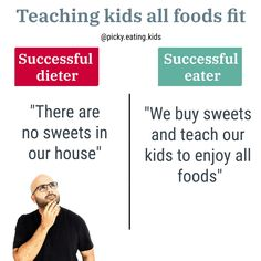 Let's raise successful eaters 💪🏼 not successful dieters! • We know parents are afraid of sugar, salt, transformed products, baked goods. Maybe it's because rightfully when they are babies, we need to limit these for their health. But growing up, we want our kids to enjoy the same food as the rest of the family WITHOUT GUILT.