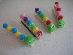 clothes pin catterpillar