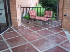Tuscan Concrete Stenciling, This Was Created With 3 Colors Of Concrete  Stain. Painting Concrete PatiosStained Concrete ...