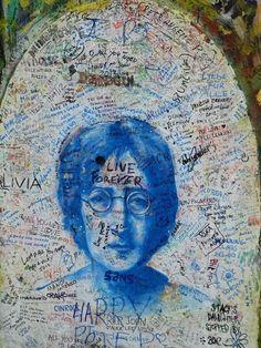 mur John Lennon Prague #street art #grafitti