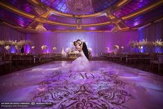 Outstanding #uplighting highlights this #couple brilliantly!: #weddingstylemagazine #DukePhotography