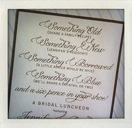 idea for a wedding shower invite