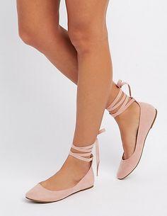 588cbb79d437d9 Lace-Up Ballet Flats Flat Lace Up Shoes