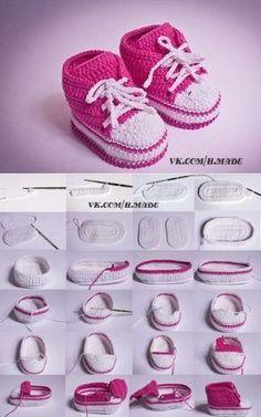 "Пинеточки для деточки Aprende mas de los bebes enconvers somosmamas.com.ar. [ "" Pinetochki for kiddie "" ] # # #Baby #Shoes, # #Crochet #Patterns, # #Kapcie, # #Posts, # #Images, # #Knitting, # #Amigurumi, # #Search, # #Baby #Slippers"