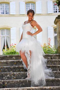 0d67759622 Ludivine Guillot - Robe de mariée sur mesure - Lyon - Bustier courte ...