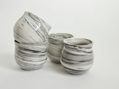 Beautiful black & white marbled ceramics made in Canada. Absolutely obsessed. And guess what, they're affordable!