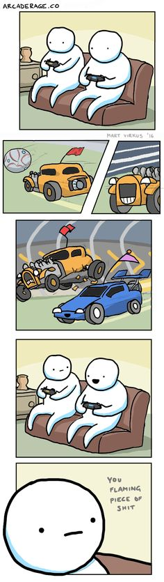 """Rocket League Destroying Friendships since 2015"" by Mart Virkus http://ift.tt/2e7aqde"