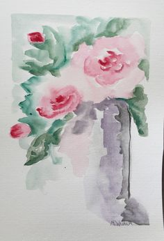 Original watercolour on paper Original Artwork, Original Paintings, Art Work, Watercolour, The Originals, Rose, Paper, Artwork, Pen And Wash