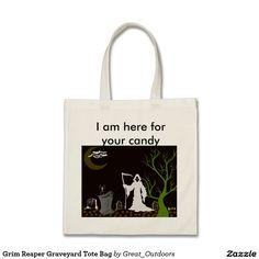 Grim Reaper Graveyard Tote Bag