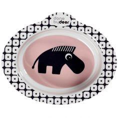 Zebee le zèbre vous attend au fond du bol antidérapant Zoopreme rose par Done by Deer. Il s'agit d'un bol très pratique pour les jeunes…