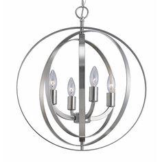 Modern 4 Light Globe Chandelier Orb Pendant Sphere Lamp Home Ceiling Lighting #ATDesigns #Modern