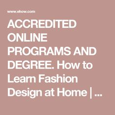 How To Learn Fashion Design At Home Part 41