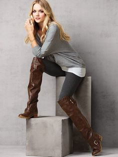 Over The Knee Riding Boots - Cr Boot