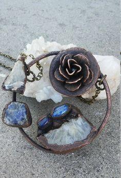 NEWCrystal Rose Necklace Lapis Lazuli by MoonofLightTalismans