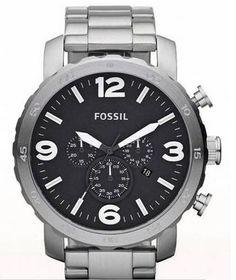 Fossil horloge met chronograph.Seconde , minuut , en half uur plus 24 wijzergecarboniseerd