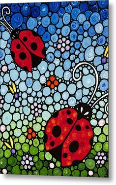 Sharon Cummings - Joyous Ladies Ladybugs Print