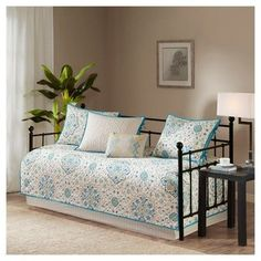 """JLA Home Teal Neda Daybed Set (75""""x39"""") 6pc"""