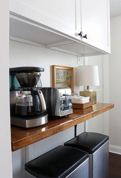 Kitchen Progress: Butcher Block Shelf – Project Palermo Ikea Corner Desk, Ikea Cart, Palermo, Shelf, Kitchen, Shelving, Cooking, Kitchens, Shelves