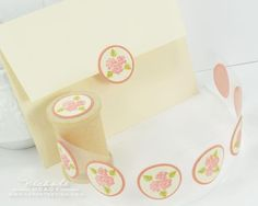 Rose Envelope Seals by Nichole Heady for Papertrey Ink (July 2012)