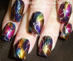 Lightning Nail Art - Robin Moses Nail Art - these are so gorgeous and I love her!! lol
