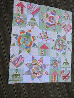Scrappy String Baby Quilt