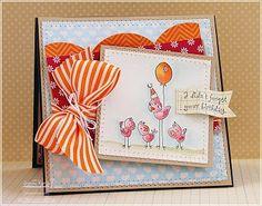 Adorable Belated Birthday Card by Joanne Basile #Cardmaking, #Birthday