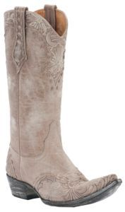 Old Gringo Ladies Erin Cream w/ Floral Embroidery Pointed Toe Western Boots $419.99