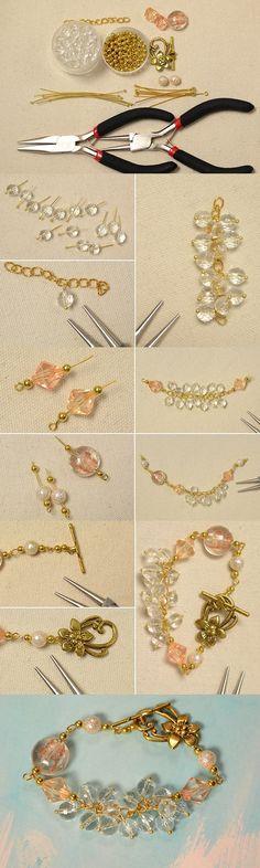 Easy DIY Gemstone Bead Bracelet Tutorial for Beginners from LC.Pandahall.com