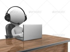 Laptop ...  3d, business, businessman, call, center, character, communicate, communication, computer, concept, consultant, consulting, cooperation, corporate, customer, desk, headphone, headset, help, helpdesk, human, icon, idea, illustration, information, internet, laptop, line, little, men, microphone, modern, office, operator, people, person, phone, professional, puppet, representative, sales, service, student, success, support, technology, white, work, worker