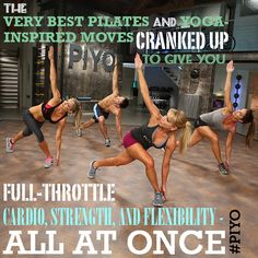 The very best Pilates and yoga-inspired moves cranked up to give you full-throttle cardio, strength, and flexibility all at once Get PiYo  in our challenge group   www.beachbodycoach.com/hope5980