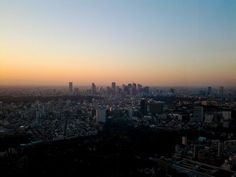 Japan Tokyo Sunset 六本木ヒルズ東京シティビューからの夕景 sunset view from Tokyo City View in Roppongi Hills